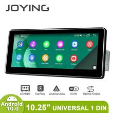 Android 10.0 Single Din 10.25 Inch 1280*480 Ips Universele Auto Radio Speler 4Gb Ram 64Gb Rom rds Bt Hdsupport 4G/Back Up Camera