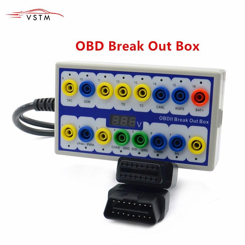 OBDII Protocol Detector /& Break Out Box Test Diagnosed Diagnostic Scanner OBD US
