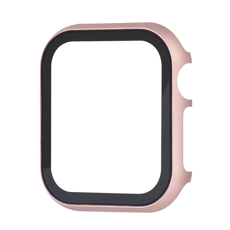 Tempered film Cover case For <font><b>Apple</b></font> <font><b>Watch</b></font> <font><b>Series</b></font> 4 3 2 1 band case 42mm 38m 40mm <font><b>44mm</b></font> Slim Aluminum case Protector for iWatch 4 image