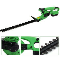 18V Lithium 1500mAh Cordless Hedge Trimmer Quick Charge Rechargeable Electric Trimmer Pruning Saw with Dual Blade/Saw 110/220 V