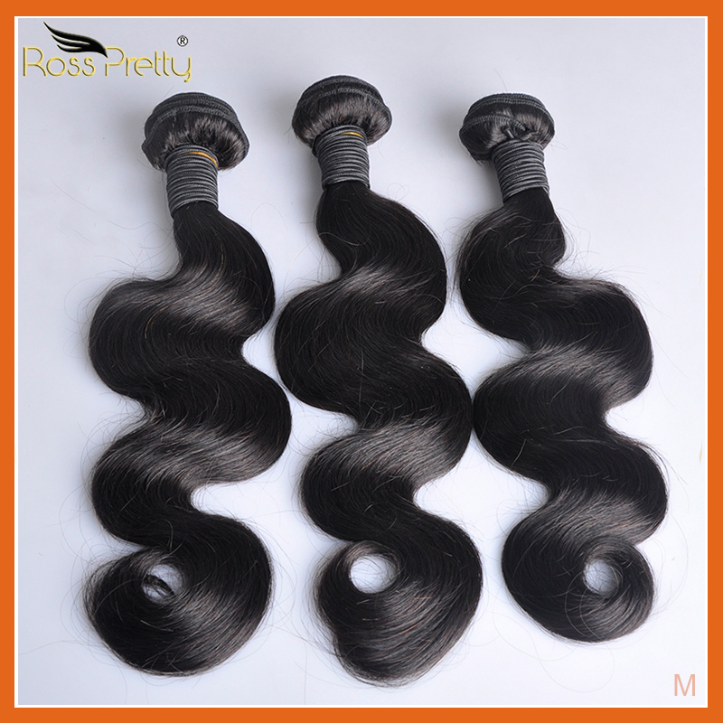 Peruvian Hair Body Wave Bundles Natural Color 1b Peruvian Human Hair Weave Bundles Non-Remy Hair Extension 1/3/4 Pc