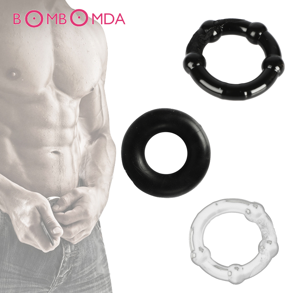 3pcs Stretchy Stay Hard Beaded Cockring <font><b>Penis</b></font> Enhancer Ring Delay Ejaculation <font><b>Penis</b></font> Trainer For Men <font><b>Sex</b></font> <font><b>Toys</b></font> Male <font><b>Adult</b></font> Products image