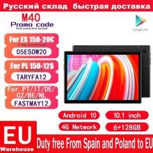 Teclast M40 Android 10.0 4G tablety sieciowe 10.1 cala Octa Core Dual 1920x1200 6GB RAM 128GB ROM T618 Tablet GPS PC
