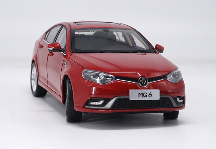 gift 1:18 All new MG 6 MG6 Diecast model red color