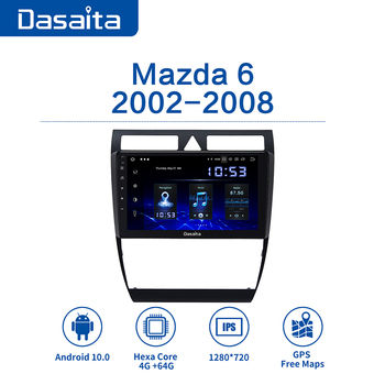 Dasaita 9 IPS Autoradio Car Stereo Android 10.0 for Mazda 6 Radio 2006 2007 2008 2009 2010 2011 2012 GPS Touch Screen 64GB ROM image