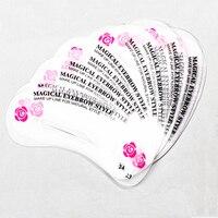 3 / 24 stücke Wiederverwendbaren Augenbraue Schablone Augenbraue Herrscher Schablonen für Pfeile Make-Up Werkzeuge Zeichnung Styling Pflege Form Vorlage karte