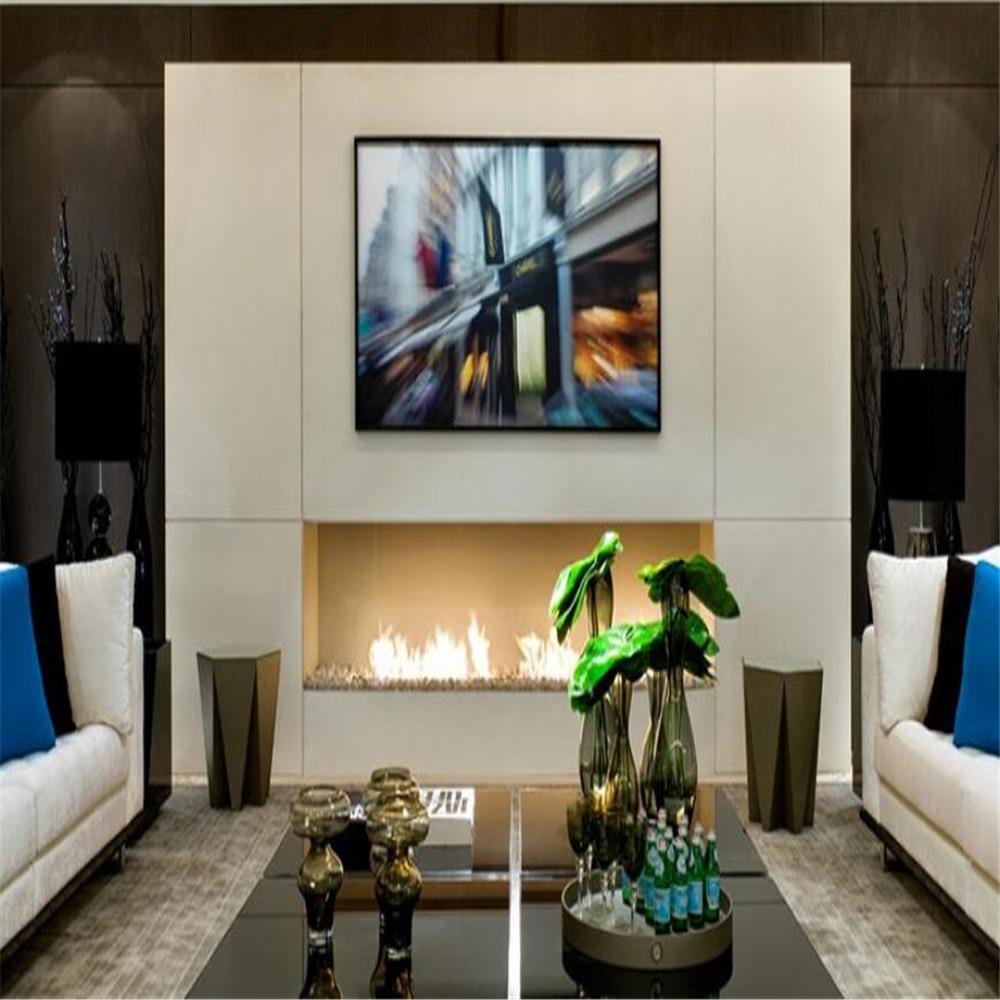 24  Inch Remote Control Intelligent Alchol  Electric Fireplace Bio Ethanol Burner Insert