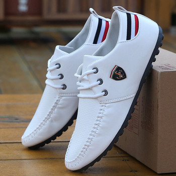 Men Sneakers 2021 Ferraring Drift Cat Casual Classic Man Leather Racing Shoes Comfortable Men's Peas Shoes The British Sneakers image