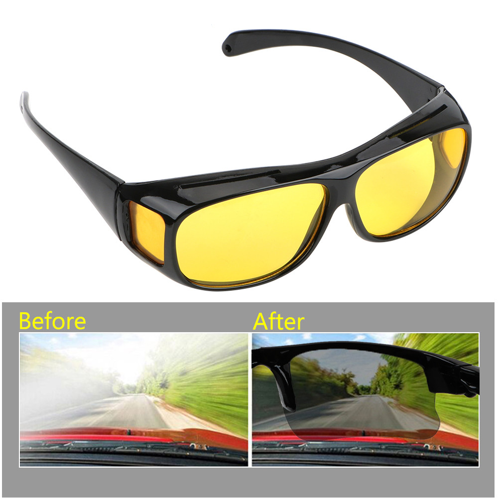 Night Vision Glasses Car Driver Goggles Unisex Eyewear UV Protection Sunglasses HD Vision Sun Glasses Car Driving Glasses