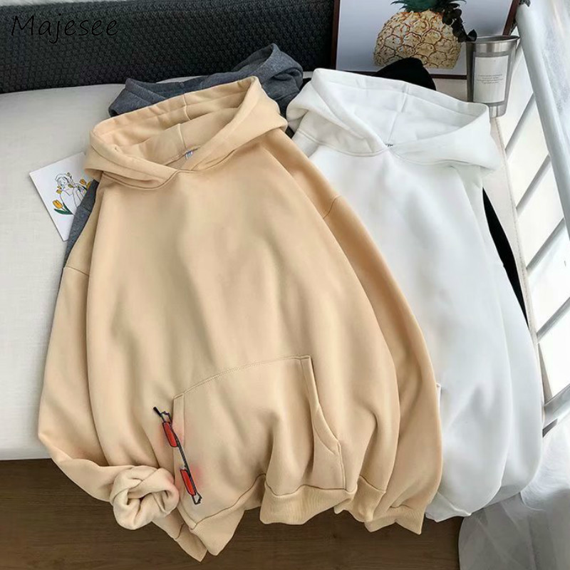 Hoodie Men Harajuku Streetwear Oversize Black Sweatshirts Mens Hoodies Simple All Match Korean Style Males Thicker Clothes Big