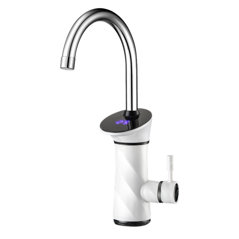 3000W Intelligent Automatic LCD Display Instant Electric Water Heating Faucet Taneous Instant Tankless Water Heater Hot Tap EU P