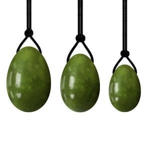 Image 1 - DropShippingธรรมชาติหยกไข่Kegelผู้หญิงอุ้งเชิงกรานกล้ามเนื้อออกกำลังกายKegelไข่Yoniกระชับช่องคลอดBen Wa Ball Kegelไข่