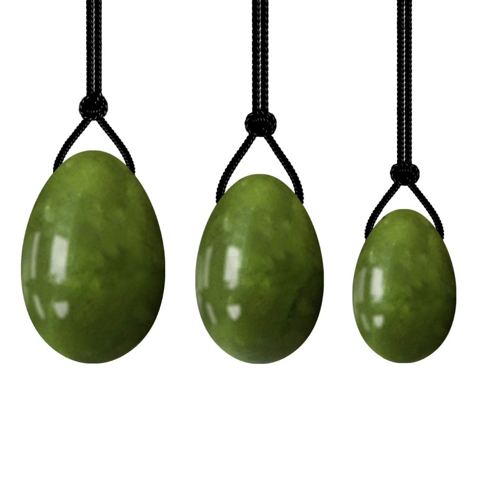 Natural Jade Egg Kegel Sphere Women Pelvic Floor Muscle Kegel Exercise Yoni Egg Tightening Vaginal Ben Wa Ball Wholesale