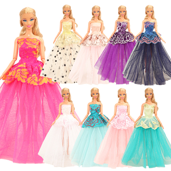 Fashion Handmade 7 Items /Lot Random Party Wedding iDress Doll Accessories For Barbie Dressing Game DIY Birthday Gift For Girl 7colors new metal ball pens 50pcs a lot for sale customized gift items for birthday party