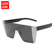 LeonLion 2019 Oversized Sunglasses Men Rimless Sun Glasses F