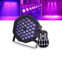36LED UV Black Light Stage Effect With Remote Sound Active DMX512 Purple Ultraviolet Strobe Disco DJ Par