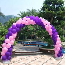 Steel Pipe Wedding Arch Garden Metal Backdrop Stand for Marriage Birthday Wedding Party Decoration DIY Arch with 200pcs Balloon(China)