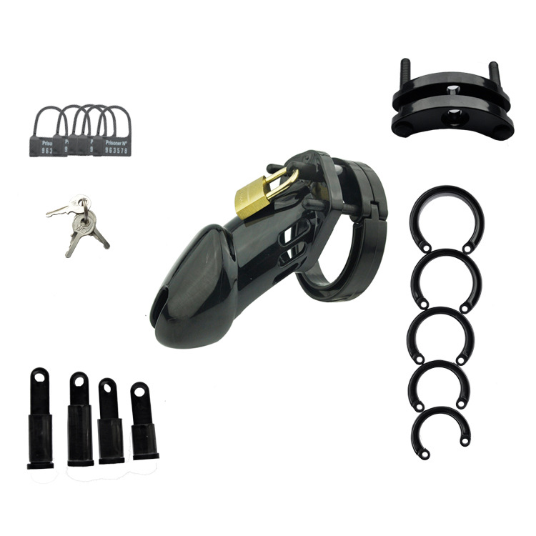 Male Chastity Device With 5 Size Penis Ring,Cock Cages,Men's Virginity Lock,Chastity Lock/Belt,Cock Ring,Adult Game,CB6000
