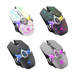 Bezprzewodowa mysz do gier X13 Mute Luminous mysz mechaniczna dla miłośników gier