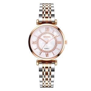 Image 5 - Gypsophila Diamond Design Women Watches Fashion Silver Round Dial Stainless Steel Band Quartz Wrist Watch Gifts relogiosfeminino