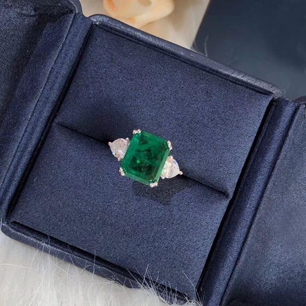 Bague de fête en argent Sterling 925 bijoux 3A zircon cubique