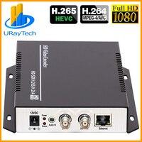 يوراي HEVC H.265/H.264 HD/3G SDI إلى IP بث مباشر فيديو مرمز الصوت HTTP ، RTSP ، RTMP ، UDP ، ONVIF-في معدات البث الإذاعي والتلفزيوني من الأجهزة الإلكترونية الاستهلاكية على