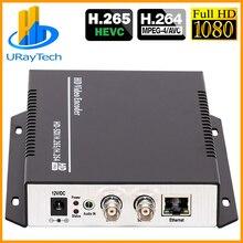 HEVC H.265 H.264 SD /HD /3G SDI to IP Live Streaming Video Audio Encoder SRT, HTTP, RTSP, RTMP, UDP, ONVIF, RTMPS