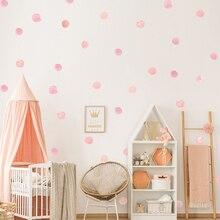 Wall-Stickers for Kids DIY Home-Decor Watercolor-Polka-Dot 36pcs/Set