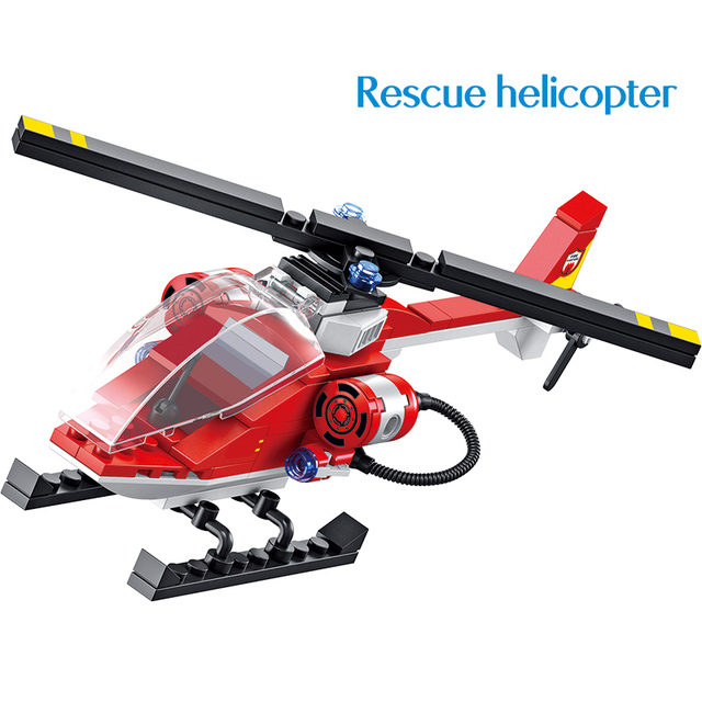 640PCS City Military Water Jet Fire Car Brigade Building Blocks Compatible Police Fire Station Bricks Kids Toy for Children