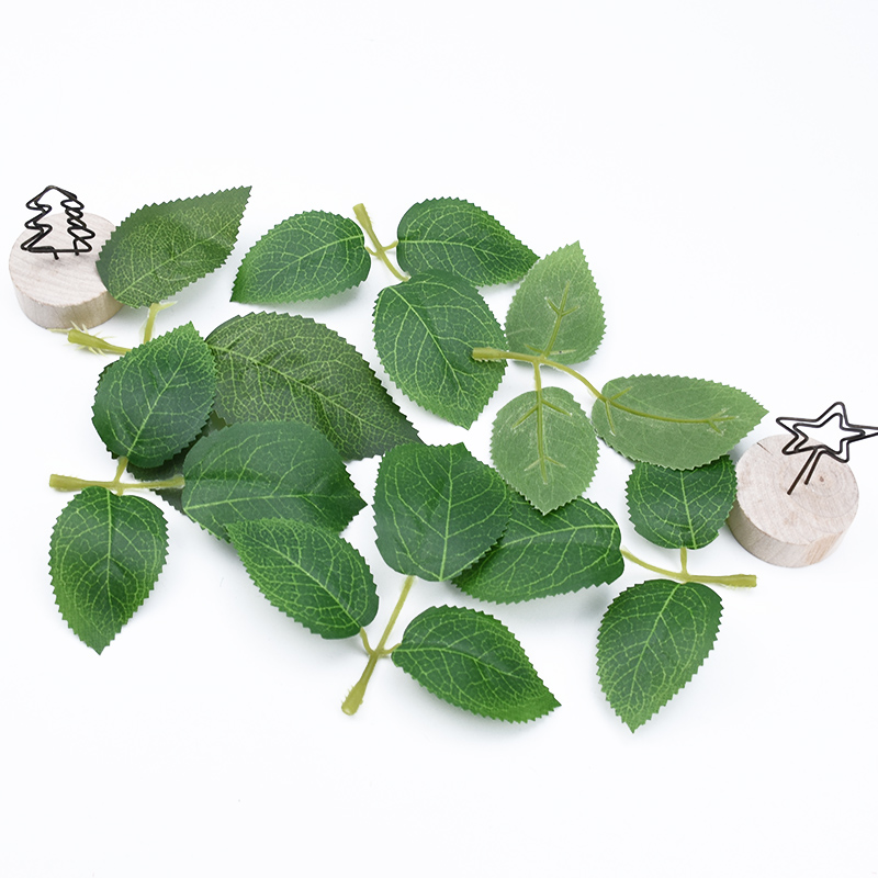 20pcs Artificial Plants Decorative Flowers Wall Silk Roses Leaf Diy Leaves Christmas Garland Wedding Home Decoration Accessories