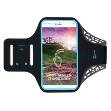 Shockproof Bag Adjustable Running Exercise Outdoor Sports Cycling Phone Holder Protect Key Armband Case Waterproof Gym Jogging(China)