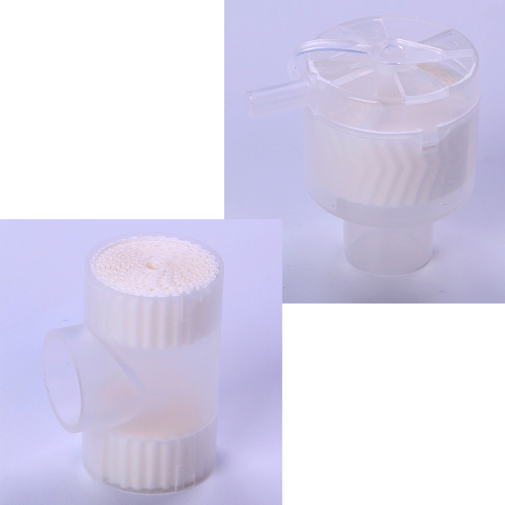 6pcs Medical Disposable Steriled Heat Moisture Exchangers HME Filter Tracheostomy Trach Vent