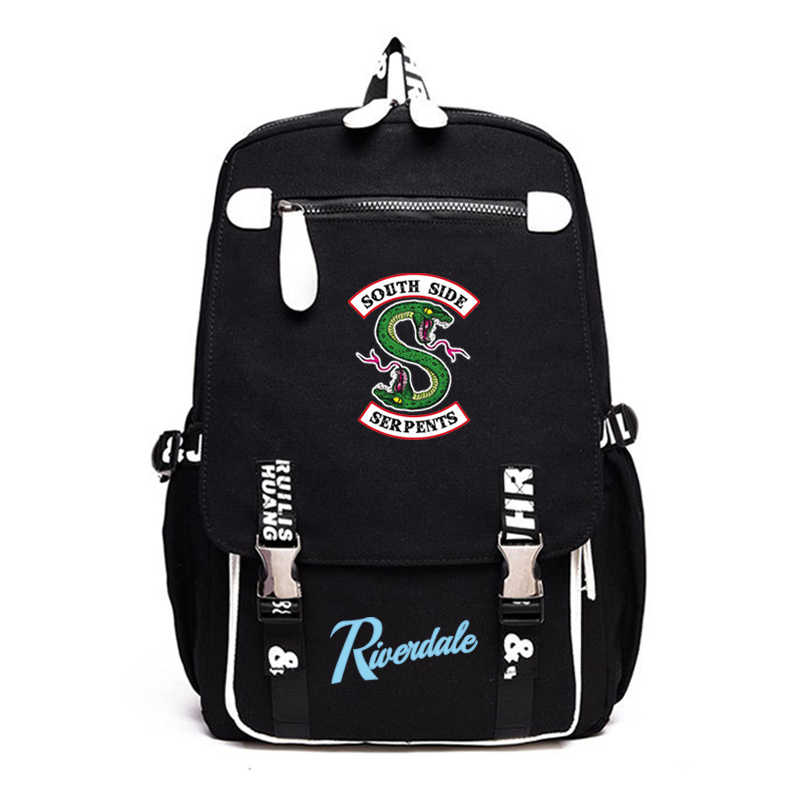 2019 Riverdale bag printing Backpack teenagers School Bag mochila travelling canvas Laptop bagpack