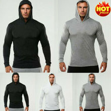 Men Gym Thin Hoodie Long Sleeve Hoodies Sweatshirt Casual Male Long Sleeve Sweatshirts GYM Fitness Hoodies new 2019 men 3d hoodies pineapple vegetable fruit men zipper hoodie washed casual men sweatshirts long sleeve pineapple hoodies