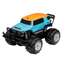 Remote Control Car 1:10 2.4Ghz 4Wd Big Wheel Off-Road Amphibious Vehicle Land Water Toy
