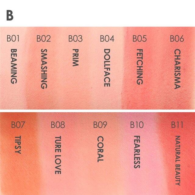 FOCALLURE Colors Face Mineral Pigment Blusher Blush Powder Brozer Cosmestics Professional Palette Blush Contour Shadow