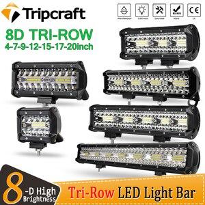 Tripcraft 3 Rows 8D 12'' 20'' LED Light Bar 420w 12V 24V 4'' LED Work Light Bar for Car Tractor Boat OffRoad 4x4 Truck SUV ATV