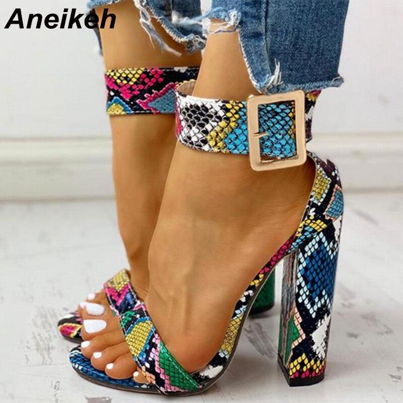 Aneikeh Fashion Peep toe Women Heeled