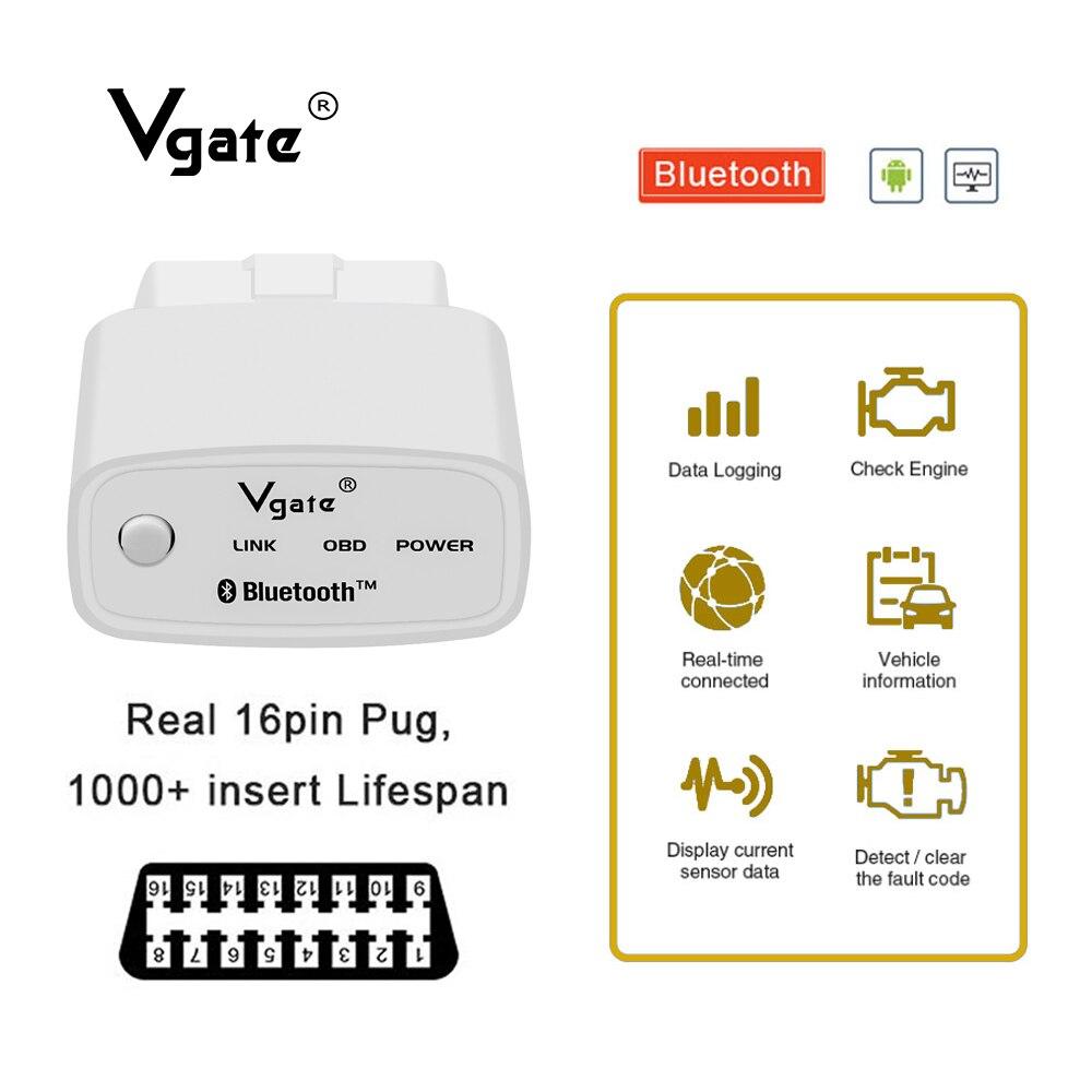 Neue Vgate iCar1 OBD2 ULME 327 Bluetooth auto diagnose-Scanner OBDII Auto diagnose werkzeug Code Leser billige produkte förderung
