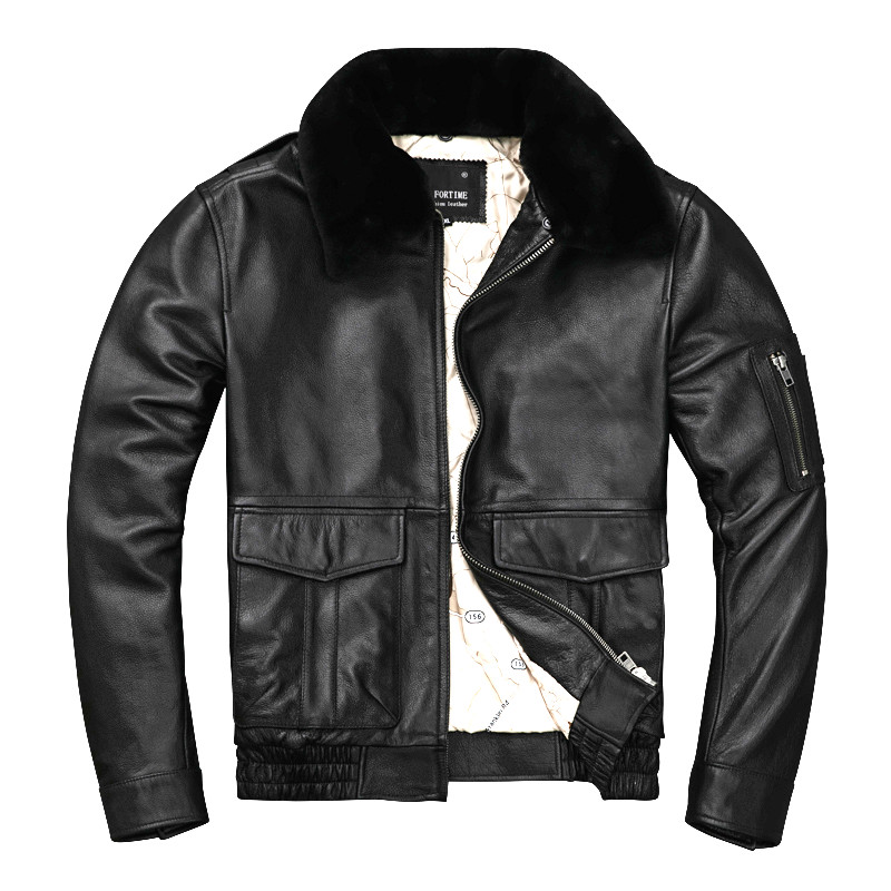 Free shipping.Brand man thick genuine leather coat,100% cowhide MA 1 jacket.classic Bomber leather jackets.winter clothesGenuine Leather Coats   -