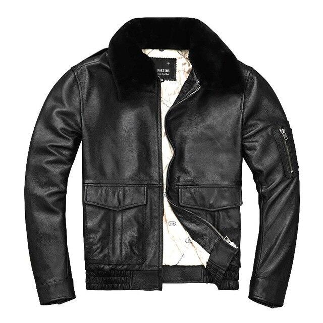 Freies verschiffen. marke man thick echtes leder mantel, 100% rindsleder MA 1 jacke. klassische Bomber leder jacken. winter kleidung