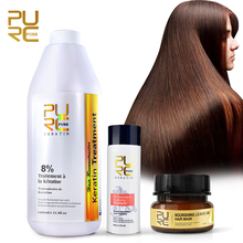 PURC best hair care set 8% 1000ml formlain keratin treatment and keep hair shiny Hair Mask