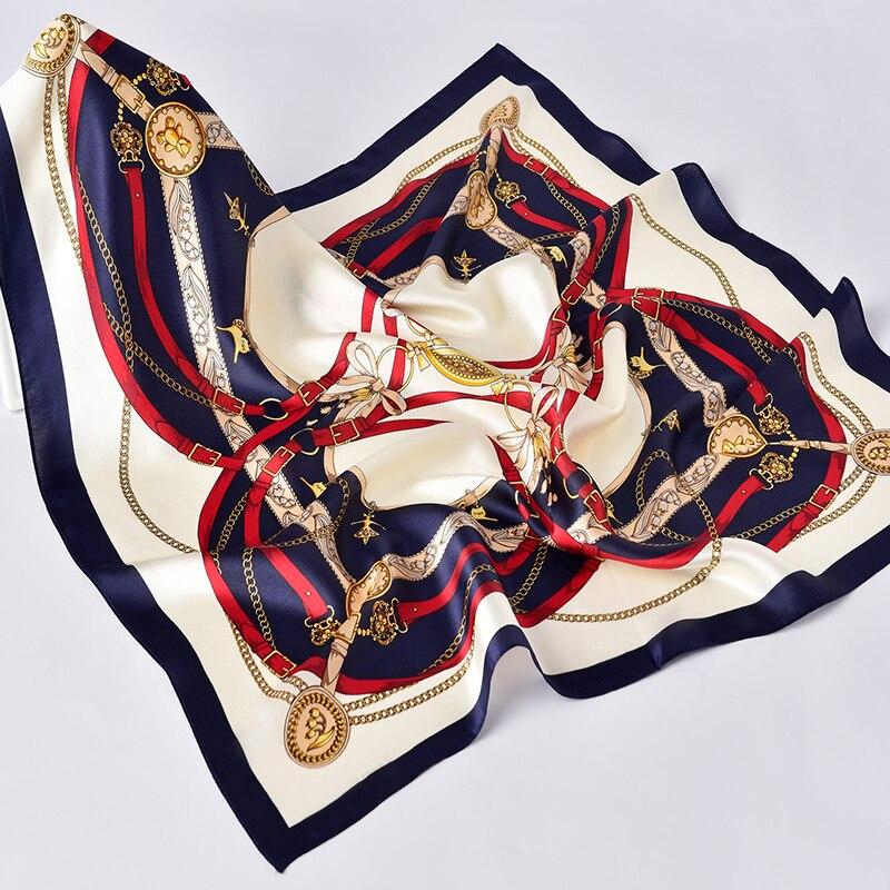 100% Silk Square Scarf for Women 65x65cm Beautiful Design Pattern Printed Luxury Elegant Silk Kerchief Handkerchief Real Silk
