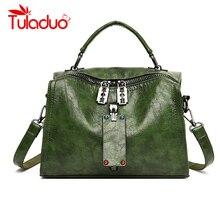 купить Women Handbag PU Leather Tote Bag Vintage Over Shoulder Crossbody Bags For Women High Quality Tote Shopping Bag Femme Sac a Main по цене 1448.52 рублей
