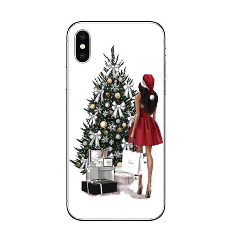 Gợi cảm Thời Trang bé gái Nữ Silicone mềm TPU Ốp Lưng điện thoại Apple iPhone 5 5S SE 6 6S 7 8 PLUS X XS MAX XR dễ thương vỏ coque
