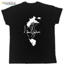 MICHAEL JACKSON FLARE T-Shirt SIGNATURE THIS IS IT TSHIRT TEE KING OF POP Youth Round Collar Customized T-Shirts Loose Clothes