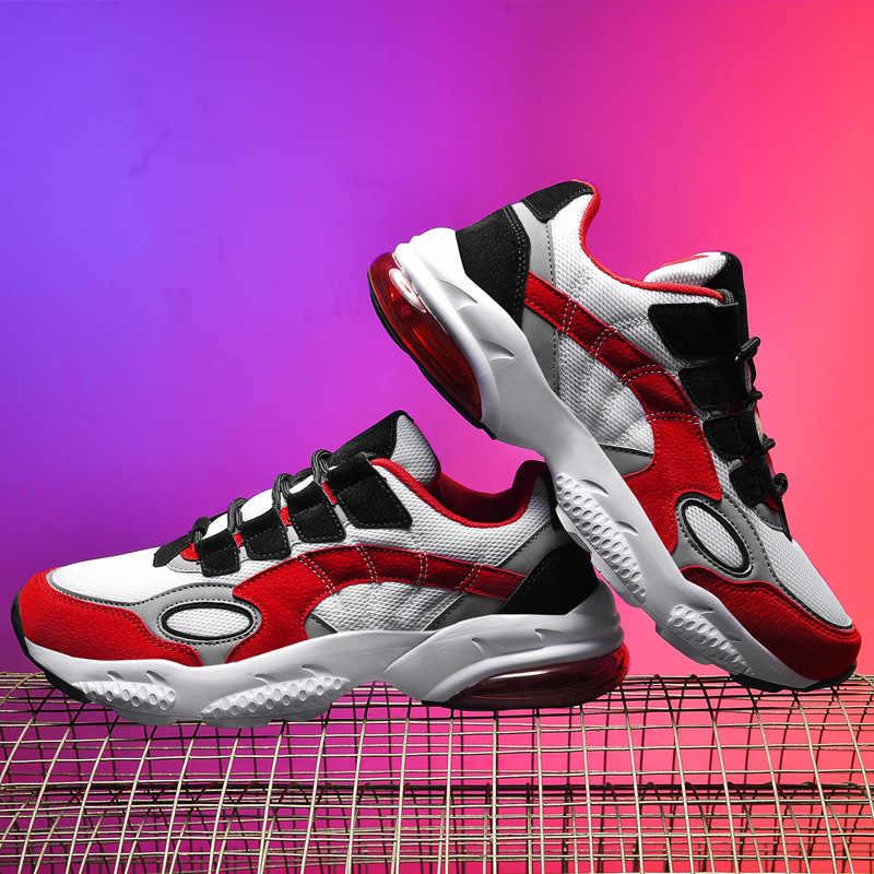 Erkek spor ayakkabı koşu ayakkabıları erkekler hava yastığı eğitmenler yürüyüş koşu marka spor ayakkabılar atletik eğitim spor ayakkabı Max boyutu 46