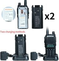 "baofeng uv Baofeng מכשיר הקשר UV-82 Ham Dual-Band 136-174 / 400-520 MHz FM 8 וואט סוללה 2800mAh שני Waterproof רדיו דרך, מקמ""ש (5)"