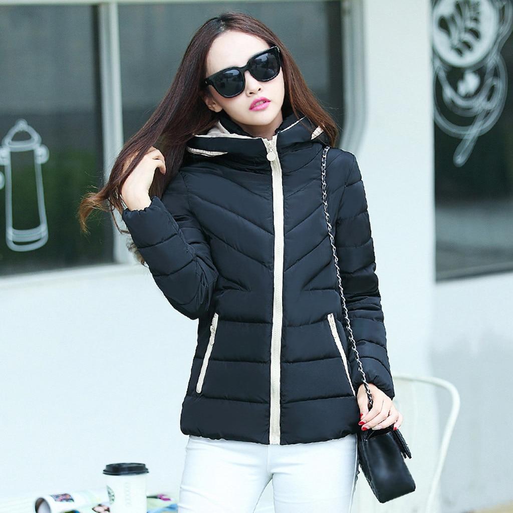 H0d9de6ceabe8452e960639ae40b77c34D fashion Women's Jackets Hooded Thickening Slim Outwear Winter Warm Casual Short Jacket Women Coat Outwear Tops