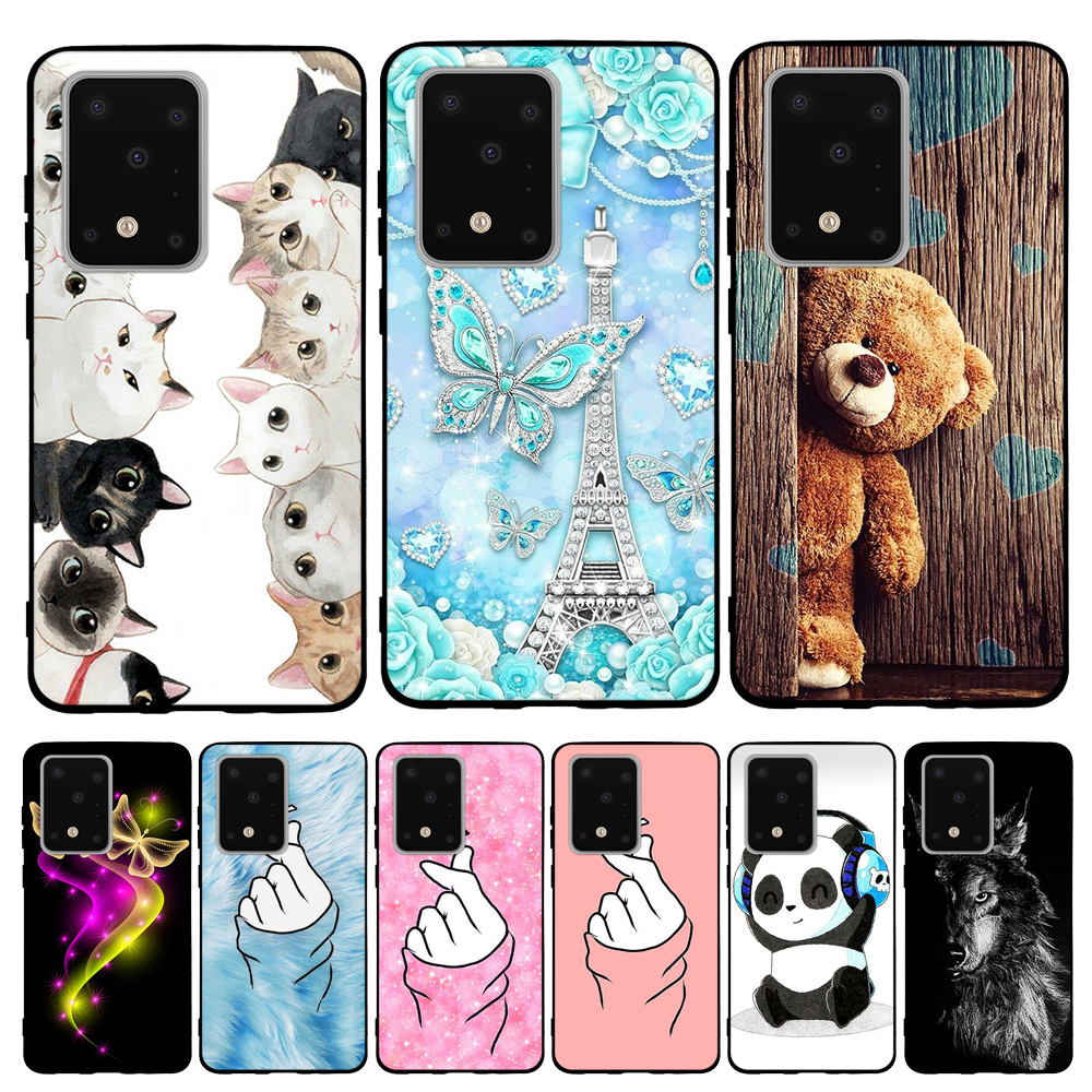 For Samsung Galaxy S20 Ultra Case Soft Silicone For Samsung Galaxy S20 Ultra Cover Dog Capa For Samsung Galaxy S20 Ultra Funda